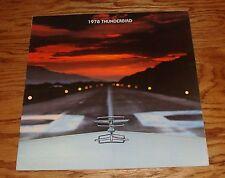 Original 1978 Ford Thunderbird Deluxe Sales Brochure 78