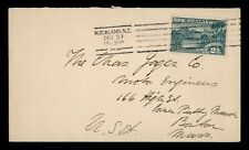 DR WHO 1925 NEW ZEALAND AUCKLAND TO USA C176639