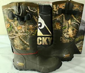 Rocky Sport Pro Rubber Waterproof Outdoor Men's Boot, RealTree Edge, RKS0400AC