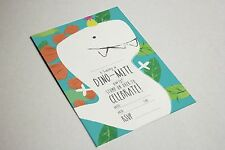 New x10 Dinosaur Birthday Party Invitations with Envelope
