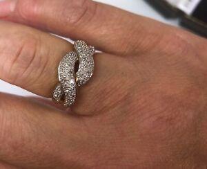 9ct Yellow Gold Diamond Twist Band Ring Size N A7500