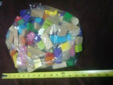Lot of Vintage Wood Building Blocks Many Colorful Included Wooden Toys Neat Wow