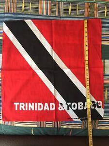"Trinidad & Tobago flag bandana, head wrap, arm band 22"" X 22"" 100% cotton"