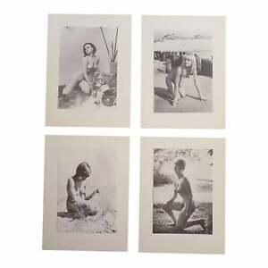 Vintage Photogravures - Female Nudes -1965 - Folio Size - Set of 4