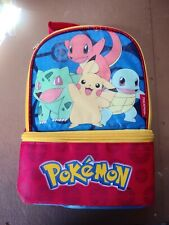 THERMOS Kids Lunch Bag Box Tote Dual Kit School Box Container Insulated Pokemon
