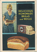 Vintage Magic Yeast Bread and Rolls Recipes Advertising Folder