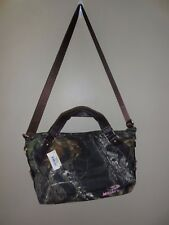 Mossy Oak MOBU Pink Jeweled Rhinestones Logo Large Camo Canvas Handbag - NWT