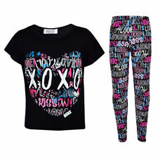T-shirts et débardeurs noirs en polyester pour fille de 2 à 16 ans