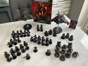 Games Workshop Warhammer 40K Deathwatch Army, Painted, KR carry Case Included!