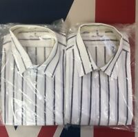 New Mens Long Sleeve Pinstripe Shirts Work Casual Wear!!BUY ONE GET ONE FREE!!