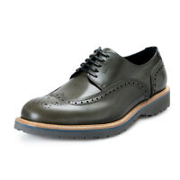 Salvatore Ferragamo Men's FUERTE Green Leather Oxfords Shoes 9.5 10 10.5 11 12