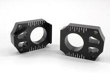 WORKS AXLE BLOCKS (BLACK) Fits: Kawasaki KX250F,KX450F,KLX450R,KX250,KX125 Suzuk