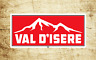 "Val D'Isere France Skiing Vinyl Sticker Decal  3.75"" X 1.75"" Ski Snowboarding"