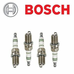 New Set of 4 BOSCH SILVER Spark Plugs F6DSR For Audi 90 Coupe Q VW Golf Passat