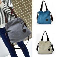 Women Large Messenger Bag Canvas Handbags Travel Crossbody Shoulder Bag Big Tote