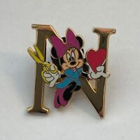 Minnie Mouse Valentine Heart Letter N Tokyo Disney Pin (A3)