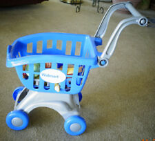 Walmart Toy Grocery shopping cart food basket Used