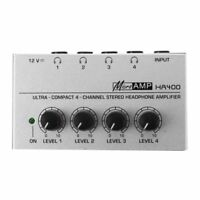 HA400 4 Channel Ultra-compact Headphone Audio Stereo Amp Microamp Amplifier U9M4