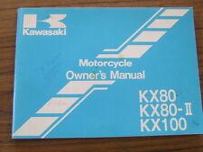 Kawasaki KX80 KX 80 R1 S1 T1 V1 KX100 B1 1991 Owners Handbook Manual