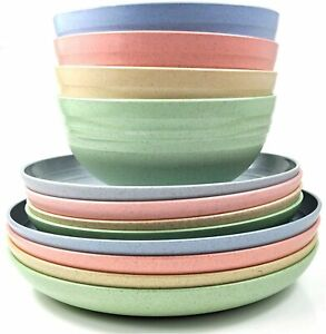 Unbreakable Camping set, dinner plates, side plates and bowls  BPA Free