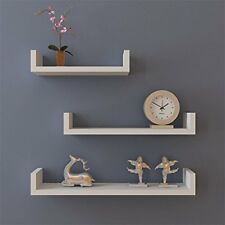 Set of 3 Floating Shelves Bookshelf Wall Mount Shelf Display Home Decor White
