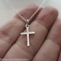 Cross Pendant Necklace - 925 Sterling Silver - Faith Religion Symbol Christian