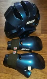 Lightining by Proforce Martial Arts Helmet and  Sparring Gloves Adult Med.