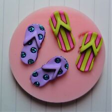 FLIP FLOPS SILICONE MOULD FOR CAKE TOPPERS CHOCOLATE CLAY ETC