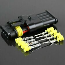 1Set Sealed Waterproof Motorcycle 1 2 3 4 Pin Electrical Wire Connector Plug 4P