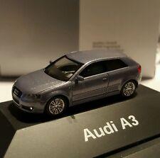 Audi A3 akoya silber 3.2 241 PS quattro 6.Gang DSG  Herpa 1:87 dealer Boxed