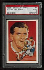 PSA 9  MAURICE RICHARD  1985 Hockey Hall of Fame Card #1