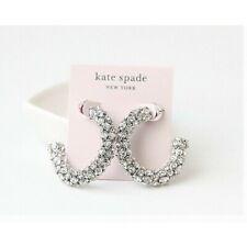 KATE SPADE Adore-Ables Hoop Earrings Clear Silver