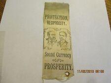1892 BENJAMIN HARRISON & REID JUGATE RIBBON SOUND CURRENCY & PROSPERITY
