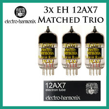New 3x Electro Harmonix 12AX7 / ECC83 | Matched Trio / Three Tubes | EH