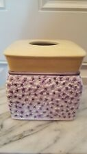 Waverly Cermaic Tissue Cover Cottage Collection purple yellow white flowers EUC