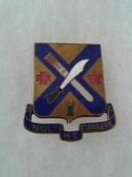 Authentic WWII US Army 2nd Infantry Regiment Unit DI DUI Crest Insignia