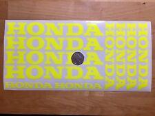 10x HONDA Wheel Rim Belly Pan FLUORESCENT YELLOW Motorcycle Stickers Graphics