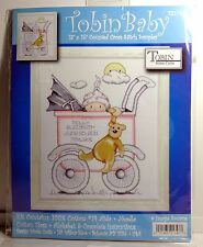 "Tobin Baby Girl Buggy Birth Record Counted Cross Stitch Kit New 13"" x 15"""