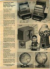 1974 ADVERT Toy Play Tom Thumb Cash Register Bank Little Lulu Zodiac World Globe