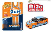 Johnny Lightning 1/64 1998 Honda Civic Custom Gulf Livery Model Car JLCP7192