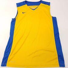 Nike Mens Dri Fit Vest Top Gilet Medium Sleeveless Yellow Polyester