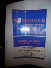 Rochdale Hornets v Wigan 1st February 1969 League Match @ Athletic Grounds