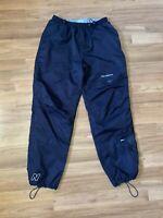 VTG New Balance Navy Blue Cuffed Drawstring Pockets Track Pants Size Men's Large