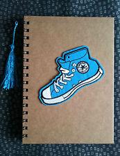 Funky Cute Retro CONVERSE TRAINER BLUE A5 Notebook Notepad Kitsch Fun Gift