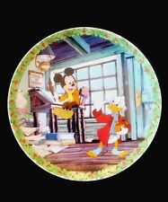 "Disney Collectible 8"" Plate ""Bah Humbug"" Scrooge McDuck & Mickey Mouse"