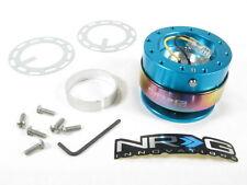 NRG Steering Wheel Quick Release Kit Gen 2.0 New Blue Body w/ Neo Chrome Ring