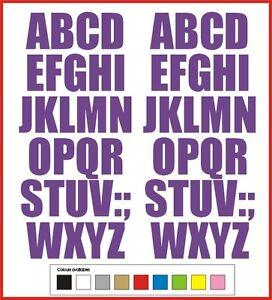 STICKY LETTERS 40mm high vinyl alphabet set A-Z Impact - any colour