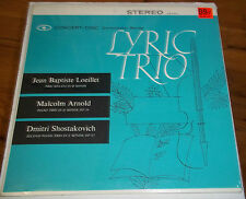 Lyric Trio LOEILLET/ARNOLD/SHOSTAKOVICH - Concert Disc CS 234 SEALED