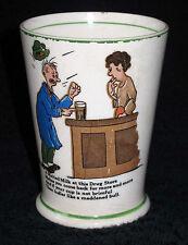 RARE * MALTED MILK 1927 Cartoon Soda Fountain Advertising Cup/Glass  Sydney Kahn
