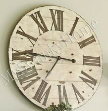 """Large 36"""" Lanier COTTAGE Rustic Wood Wall Clock Neiman Marcus Lodge Ranch Light"""